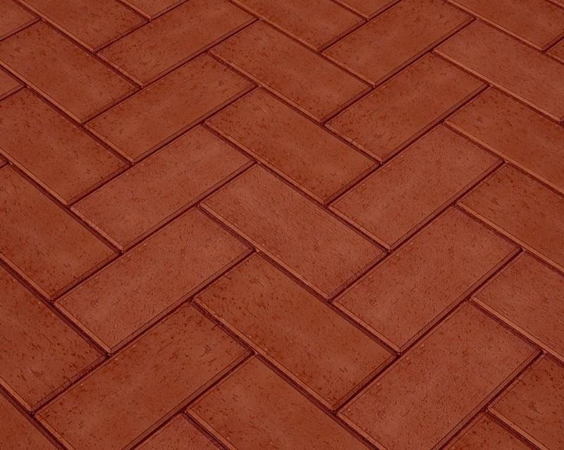 Клинкер тротуарный тёмно-красный «Эдинбург»