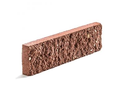 Колотая фасадная плитка цвет рубиновый