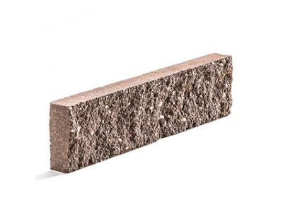 Колотая фасадная плитка цвет коричневый