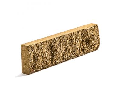 Колотая фасадная плитка цвет табачный