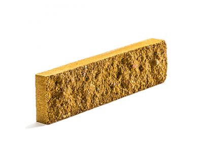 Колотая фасадная плитка цвет лимонный